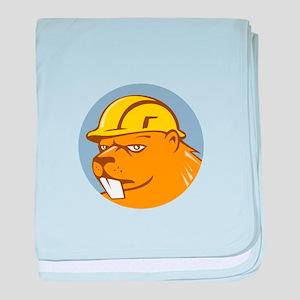 Beaver Construction Worker Circle Cartoon baby bla