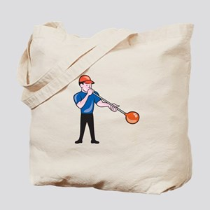 Glassblower Glassblowing Isolated Cartoon Tote Bag