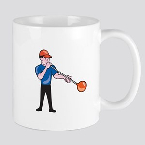 Glassblower Glassblowing Isolated Cartoon Mugs