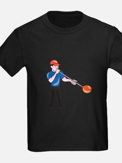 Glassblower Glassblowing Isolated Cartoon T-Shirt