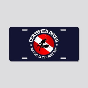 Certified Diver (Deep End) Aluminum License Plate