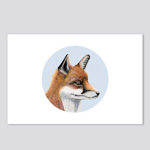 Red Fox Portrait Watercolour Postcards (Package of