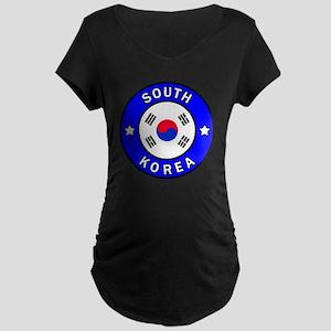 South Korea Maternity Dark T-Shirt