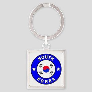 South Korea Square Keychain