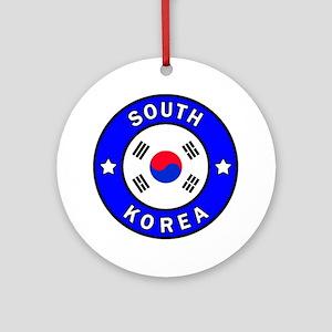 South Korea Round Ornament