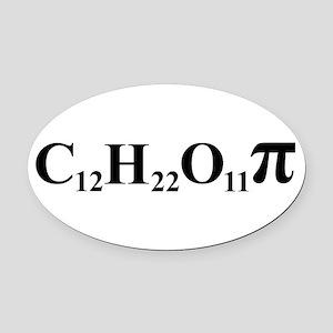 Sugar Pi Oval Car Magnet