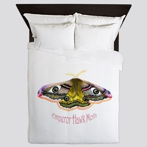 Emperor Hawk Moth Painting Queen Duvet
