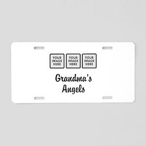 CUSTOM Grandmas Angels - 3 Grandkids Aluminum Lice