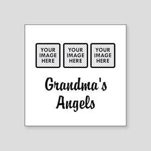 CUSTOM Grandmas Angels - 3 Grandkids Sticker
