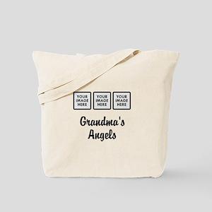 CUSTOM Grandmas Angels - 3 Grandkids Tote Bag