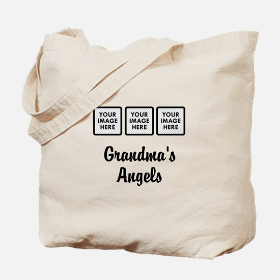 CUSTOM Grandmas Angels - 3 Grandkids Tote Bag