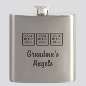 CUSTOM Grandmas Angels - 3 Grandkids Flask