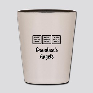 CUSTOM Grandmas Angels - 3 Grandkids Shot Glass