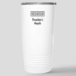 CUSTOM Grandmas Angels - 3 Grandkids Travel Mug