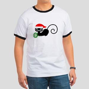 xmas santa cat T-Shirt
