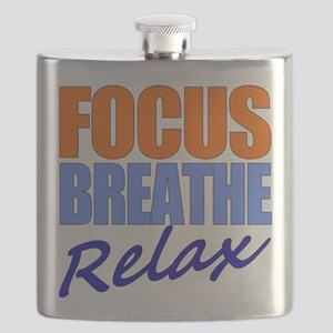 Focus Breathe Relax Flask
