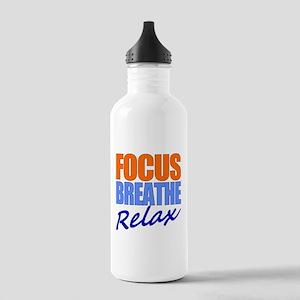 Focus Breathe Relax Water Bottle