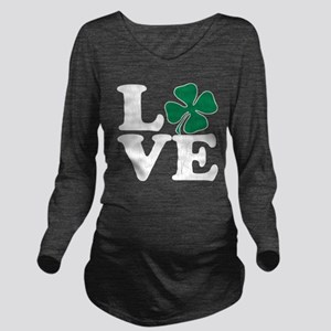 Love St Pattys (vintage distressed look) Long Slee
