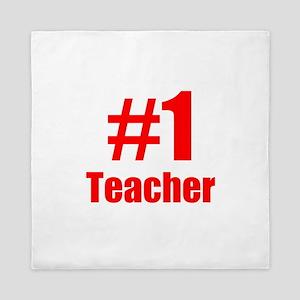 Number 1 Teacher Queen Duvet