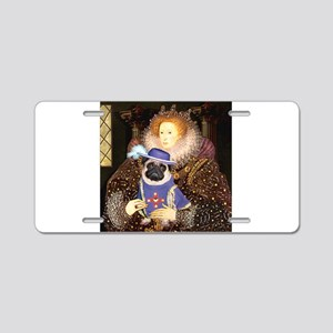 Queen-Sir Pug (17) Aluminum License Plate