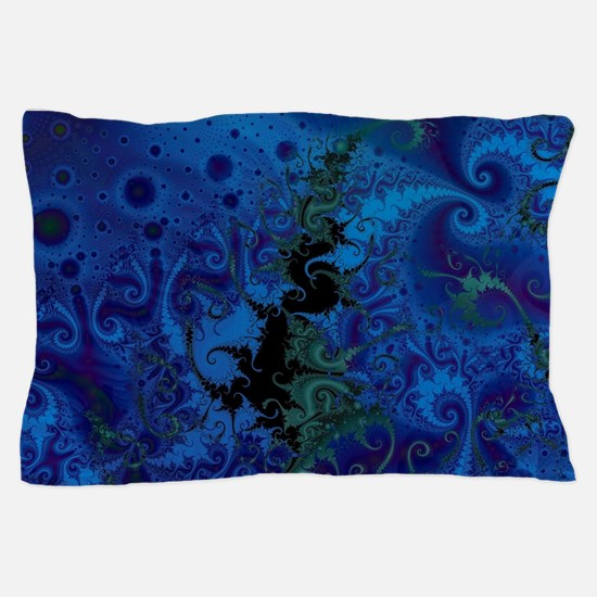 Dance Of The Seahorse King Blue Pillow Case