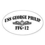 USS GEORGE PHILIP Sticker (Oval)
