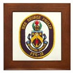 USS GEORGE PHILIP Framed Tile