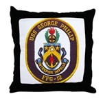 USS GEORGE PHILIP Throw Pillow