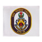 USS GEORGE PHILIP Throw Blanket