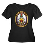 USS GEOR Women's Plus Size Scoop Neck Dark T-Shirt
