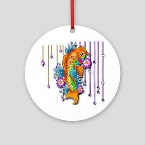 Pretty Koi Fish Ornament (Round)