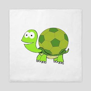 Soccer Turtle Queen Duvet