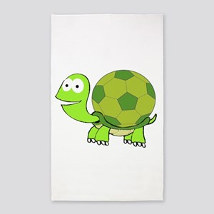 Soccer Turtle Area Rug