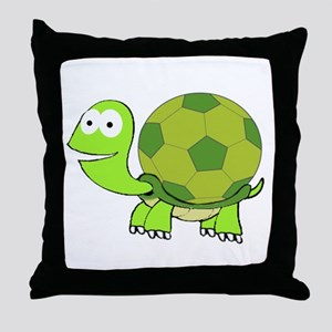 Soccer Turtle Throw Pillow