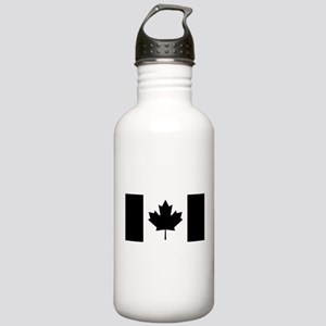 Canada: Black Military Stainless Water Bottle 1.0L