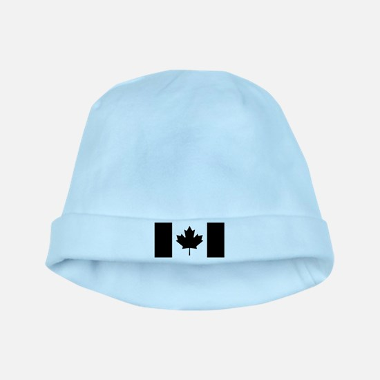 Canada: Black Military Flag II baby hat