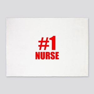 Number 1 Nurse 5'x7'Area Rug