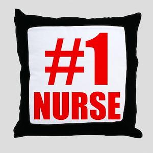 Number 1 Nurse Throw Pillow