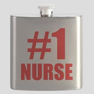 Number 1 Nurse Flask