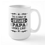 Awesome Papa Large Mug