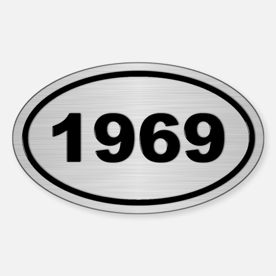 1969 Steel Grey Oval Vinyl Decal