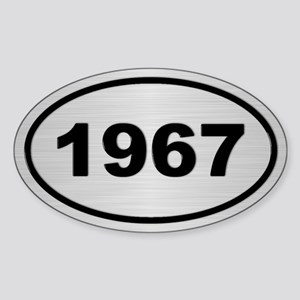 1967 Steel Grey Oval Vinyl Sticker