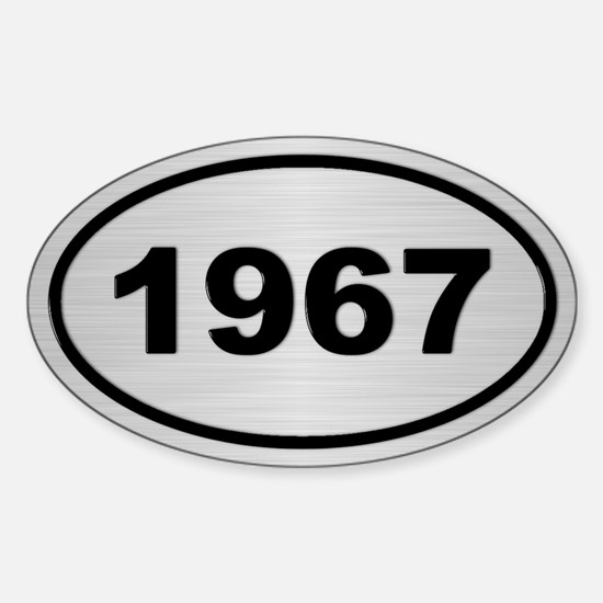 1967 Steel Grey Oval Vinyl Decal