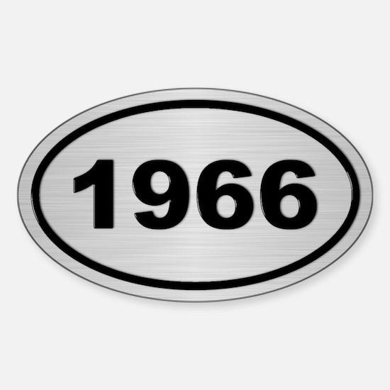 1966 Steel Grey Oval Vinyl Decal