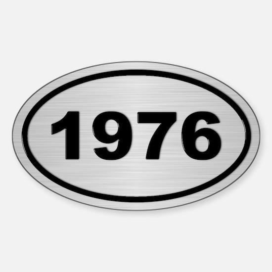 1976 Steel Grey Oval Vinyl Decal