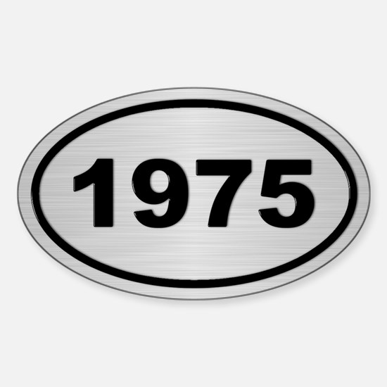 1975 Steel Grey Oval Vinyl Decal
