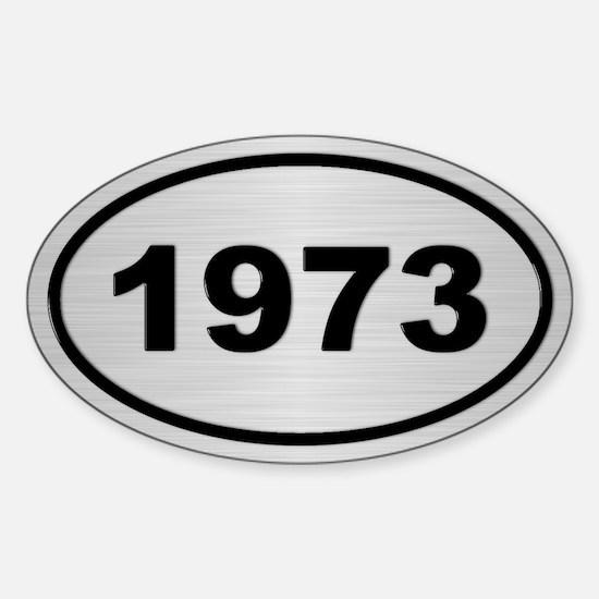 1973 Steel Grey Oval Vinyl Decal