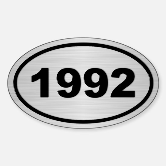 1992 Steel Grey Oval Vinyl Decal