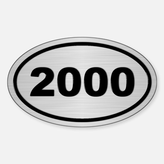 2000 Steel Grey Oval Vinyl Decal