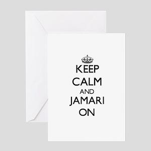 Keep Calm and Jamari ON Greeting Cards